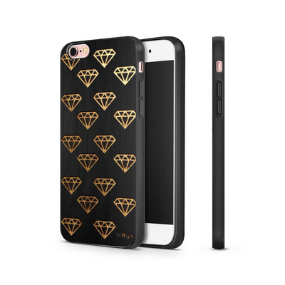 Black Bamboo - Diamonds are Forever - Milkyway Cases -  iPhone - Samsung - Clear Cut Silicone Phone Case Cover