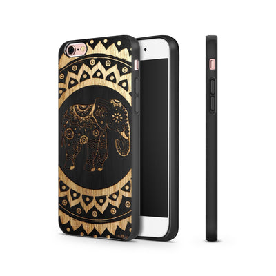Black Bamboo - Hindu Elephant - Milkyway Cases -  iPhone - Samsung - Clear Cut Silicone Phone Case Cover