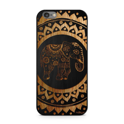 Hindu Elephant - Wood - iPhone Case