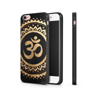 Black Bamboo - Ohm Mandala - Milkyway Cases -  iPhone - Samsung - Clear Cut Silicone Phone Case Cover