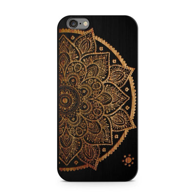 Wood  - Lotus Mandala Milkyway iPhone Samsung Clear Cute Silicone 8 Plus 7 X Cover