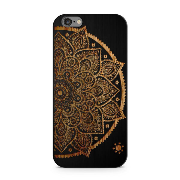 Black Bamboo - Lotus Mandala - Milkyway Cases -  iPhone - Samsung - Clear Cut Silicone Phone Case Cover