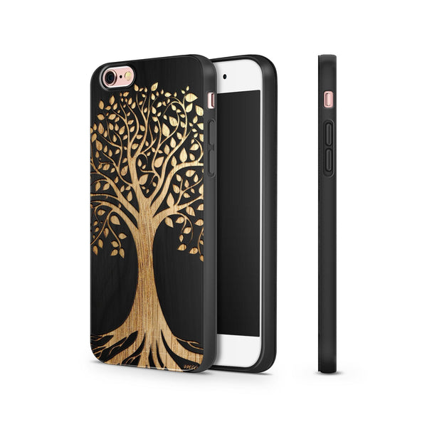 Black Bamboo - Tree of Life - Milkyway Cases -  iPhone - Samsung - Clear Cut Silicone Phone Case Cover