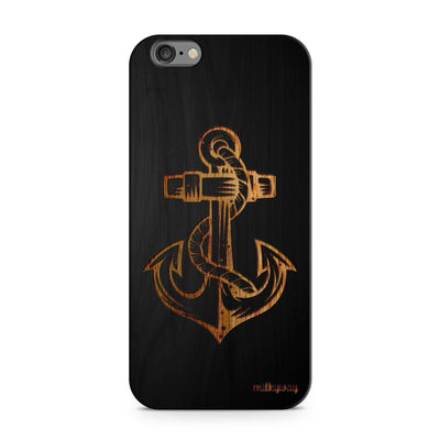 Black Bamboo - Anchor - Milkyway Cases -  iPhone - Samsung - Clear Cut Silicone Phone Case Cover