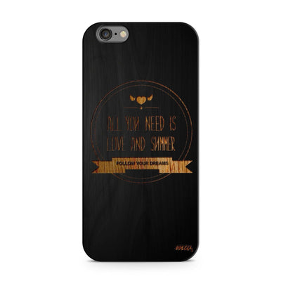 Black Bamboo - All You Need is Love and Summer - Milkyway Cases -  iPhone - Samsung - Clear Cut Silicone Phone Case Cover