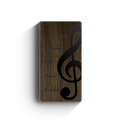 Walnut Power Bank Charger - When Music Speaks