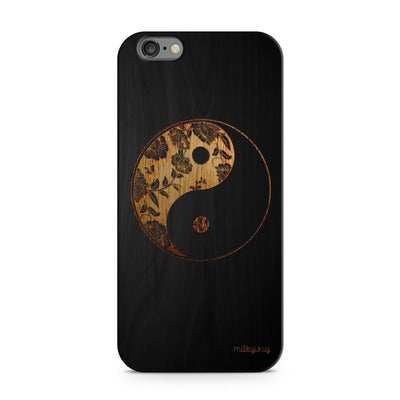 Black Bamboo - Floral Yin Yang - Milkyway Cases -  iPhone - Samsung - Clear Cut Silicone Phone Case Cover