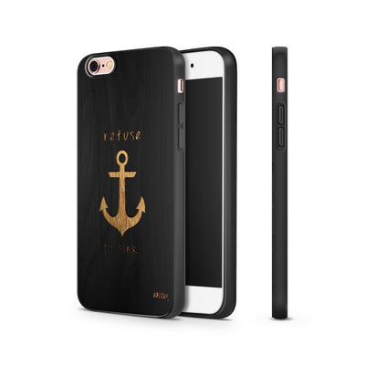 Black Bamboo - Nautical Refuse to Sink - Milkyway Cases -  iPhone - Samsung - Clear Cut Silicone Phone Case Cover