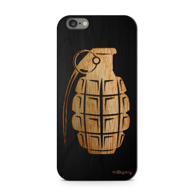 Black Bamboo - Grenade - Milkyway Cases -  iPhone - Samsung - Clear Cut Silicone Phone Case Cover