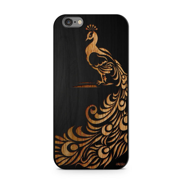 Black Bamboo - Peacock - Milkyway Cases -  iPhone - Samsung - Clear Cut Silicone Phone Case Cover