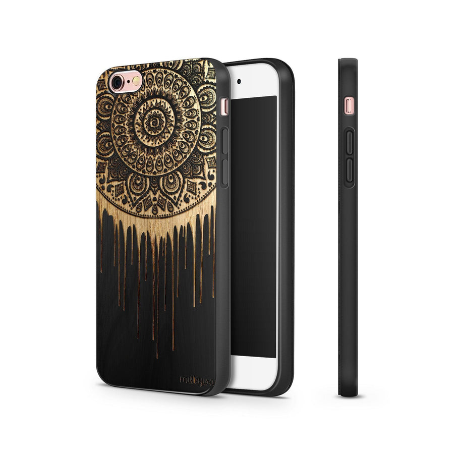 Black Bamboo - Dripping Dreamcatcher - Milkyway Cases -  iPhone - Samsung - Clear Cut Silicone Phone Case Cover