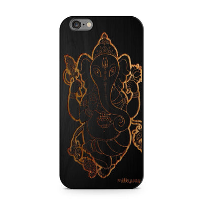Black Bamboo - Sri Maha Ganapati - Milkyway Cases -  iPhone - Samsung - Clear Cut Silicone Phone Case Cover