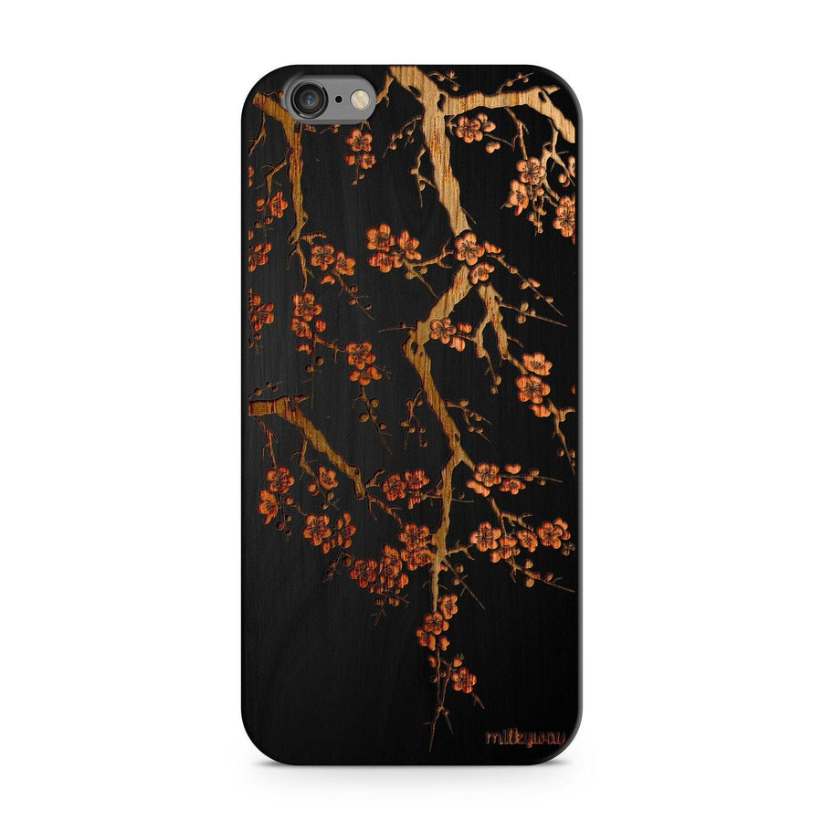 9fccb473013 Black Bamboo - Cherry Blossom - Milkyway Cases - iPhone - Samsung - Clear  Cut Silicone