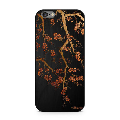Cherry Blossom - Wood - iPhone Case