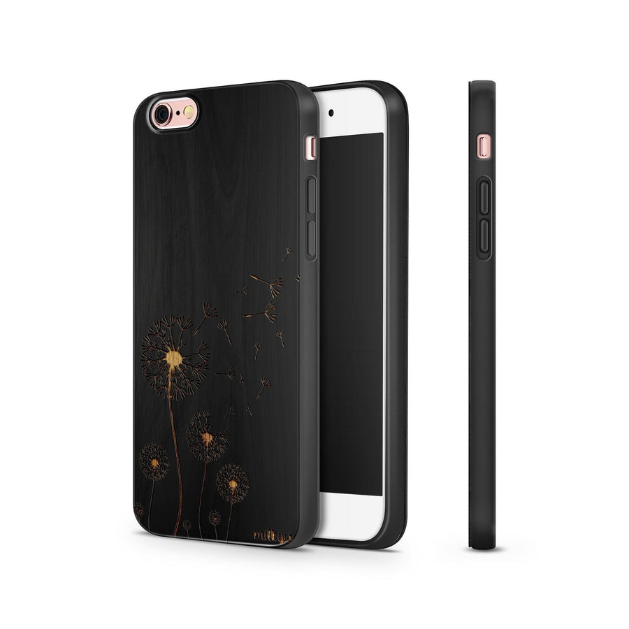 Black Bamboo - Dandelion - Milkyway Cases -  iPhone - Samsung - Clear Cut Silicone Phone Case Cover