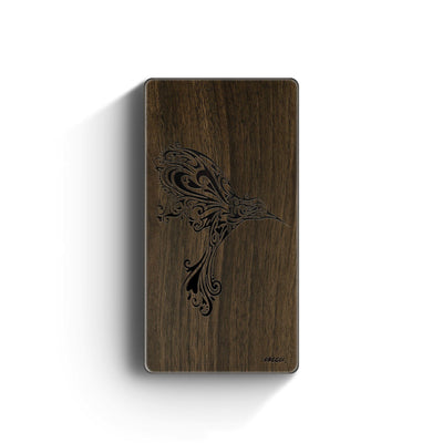 Walnut Power Bank Charger - Hummingbird - Milkyway Cases -  iPhone - Samsung - Clear Cut Silicone Phone Case Cover