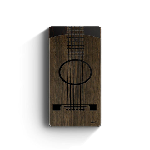 Walnut Power Bank Charger - Guitar