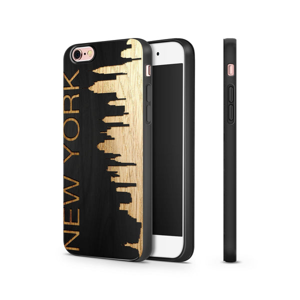 Black Bamboo - New York Skyline - Milkyway Cases -  iPhone - Samsung - Clear Cut Silicone Phone Case Cover