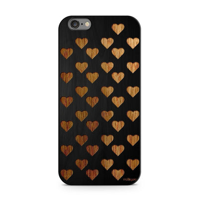 Wood  - Mini Hearts Milkyway iPhone Samsung Clear Cute Silicone 8 Plus 7 X Cover
