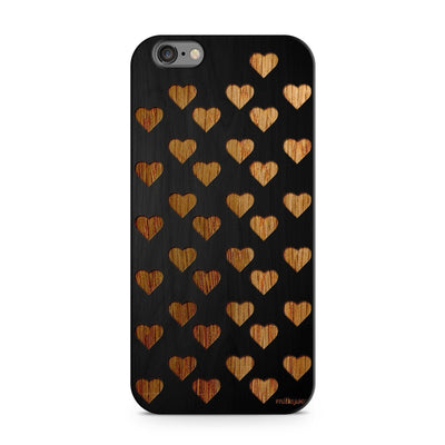 Black Bamboo - Mini Hearts - Milkyway Cases -  iPhone - Samsung - Clear Cut Silicone Phone Case Cover