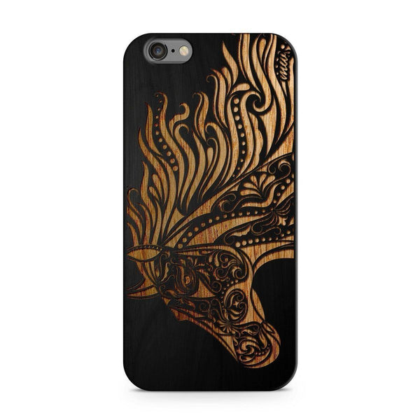 Wood  - Majestic Horse Milkyway iPhone Samsung Clear Cute Silicone 8 Plus 7 X Cover