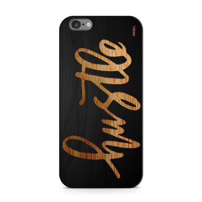 Black Bamboo - Hustle - Milkyway Cases -  iPhone - Samsung - Clear Cut Silicone Phone Case Cover
