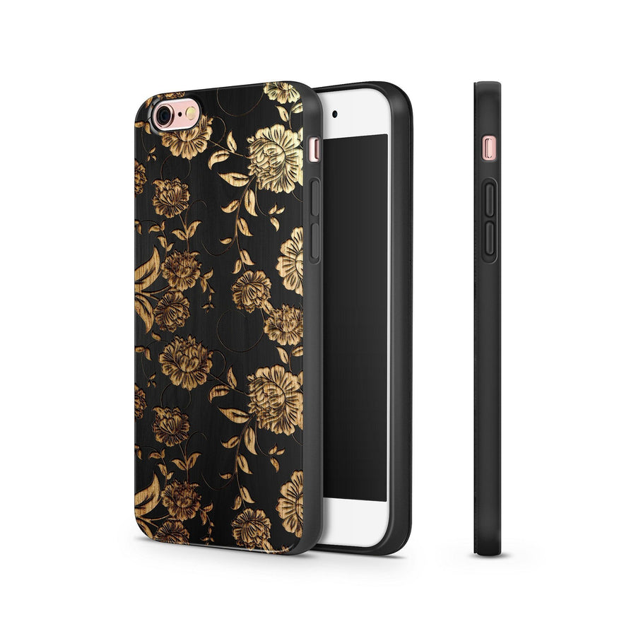 Black Bamboo - Chrysanthemum - Milkyway Cases -  iPhone - Samsung - Clear Cut Silicone Phone Case Cover