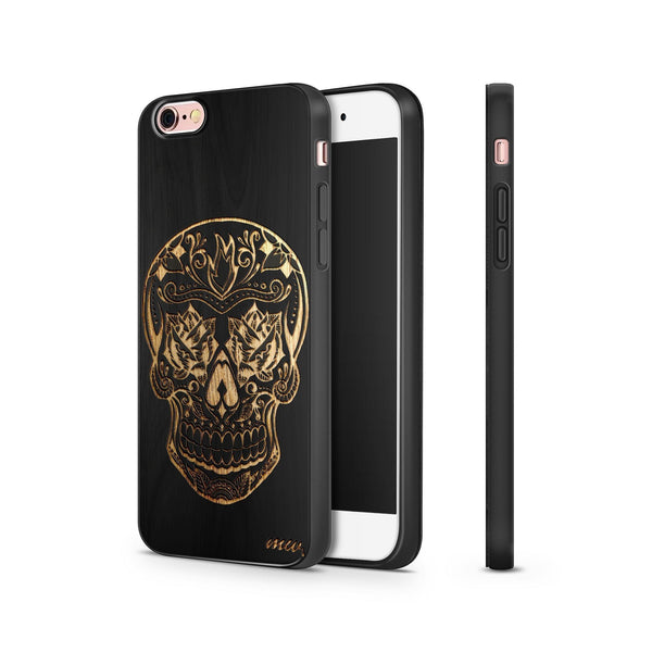 Black Bamboo - Rose Eyes Skull - Milkyway Cases -  iPhone - Samsung - Clear Cut Silicone Phone Case Cover