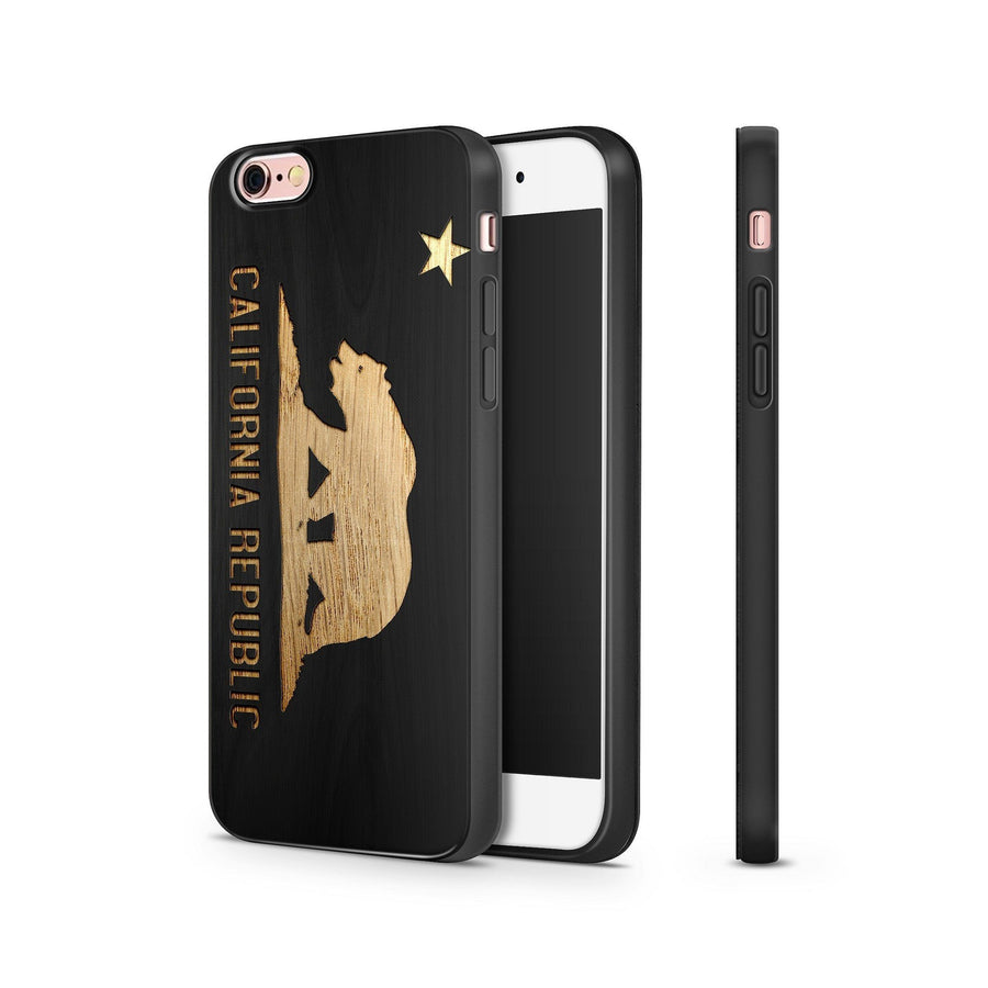 Black Bamboo - California Republic - Milkyway Cases -  iPhone - Samsung - Clear Cut Silicone Phone Case Cover