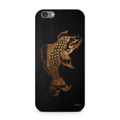 Black Bamboo - Koi Fish - Milkyway Cases -  iPhone - Samsung - Clear Cut Silicone Phone Case Cover