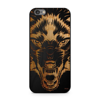 Black Bamboo - Wolf Beast - Milkyway Cases -  iPhone - Samsung - Clear Cut Silicone Phone Case Cover
