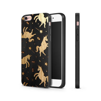 Black Bamboo - Unicorns and Diamonds - Milkyway Cases -  iPhone - Samsung - Clear Cut Silicone Phone Case Cover