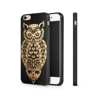 Black Bamboo - Tribal Owl - Milkyway Cases -  iPhone - Samsung - Clear Cut Silicone Phone Case Cover