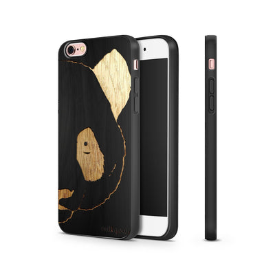 Black Bamboo - Panda - Milkyway Cases -  iPhone - Samsung - Clear Cut Silicone Phone Case Cover