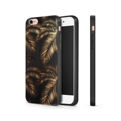 Black Bamboo - Palm Leaves - Milkyway Cases -  iPhone - Samsung - Clear Cut Silicone Phone Case Cover