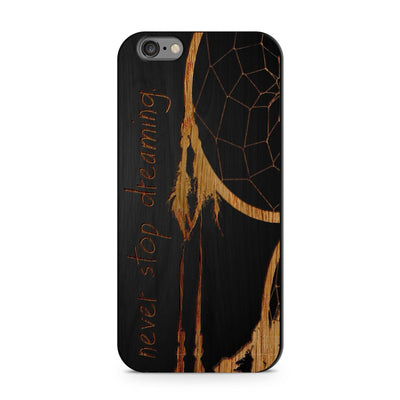 Black Bamboo - Never Stop Dreaming - Milkyway Cases -  iPhone - Samsung - Clear Cut Silicone Phone Case Cover