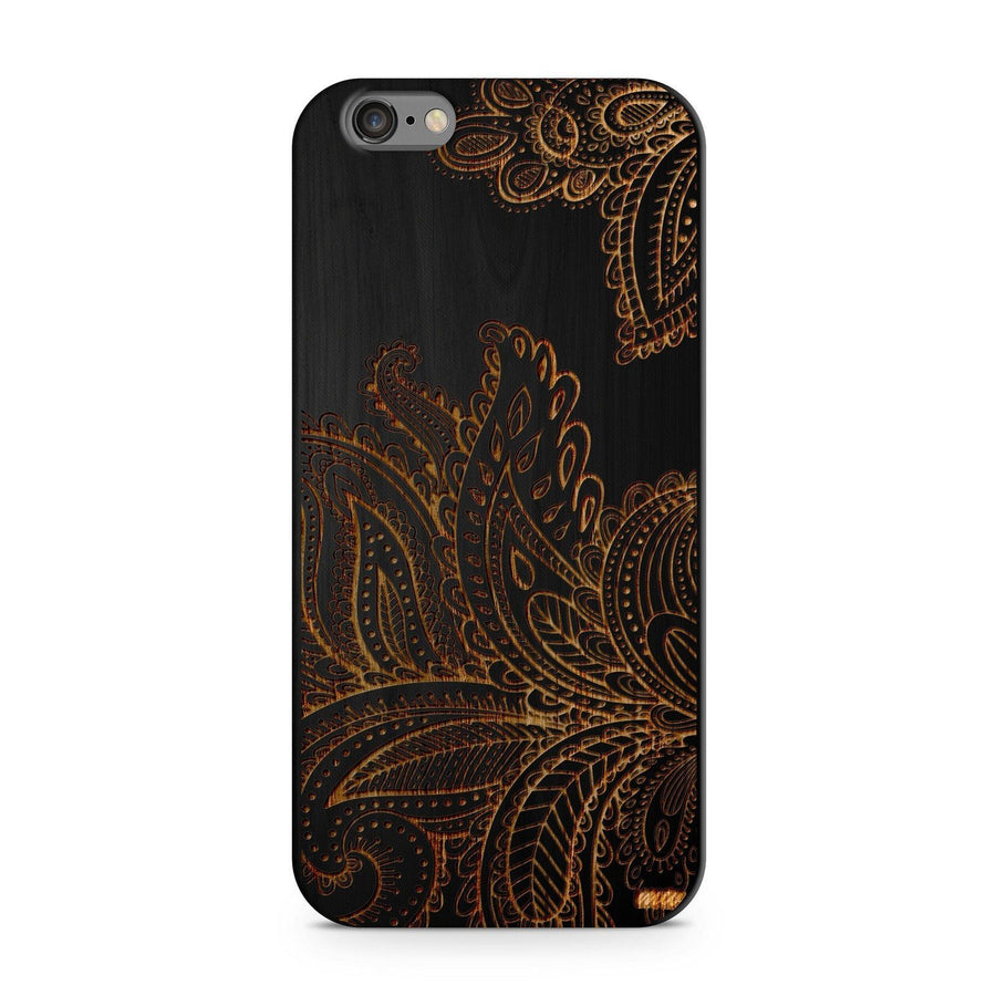 Paisley - Wood - iPhone Case