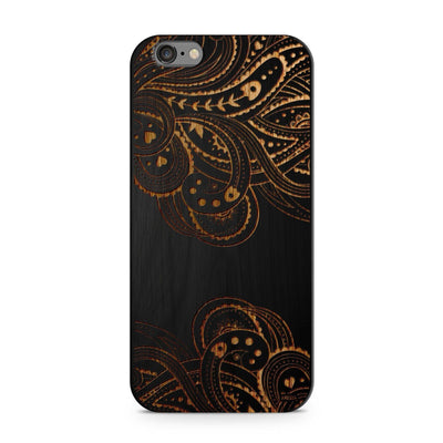 Black Bamboo - Hazel Mandala - Milkyway Cases -  iPhone - Samsung - Clear Cut Silicone Phone Case Cover