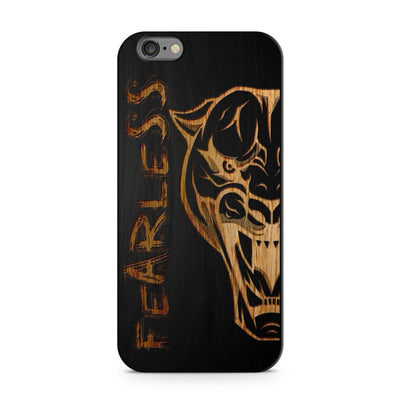 Black Bamboo - Fearless Panther - Milkyway Cases -  iPhone - Samsung - Clear Cut Silicone Phone Case Cover