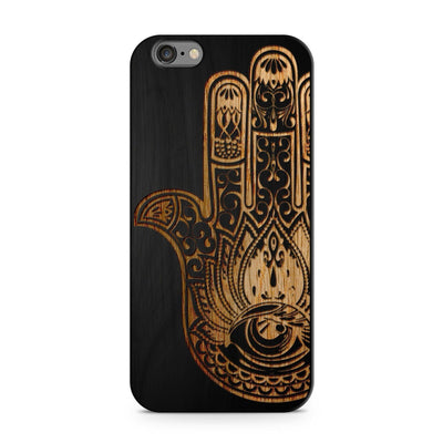 Black Bamboo - Khamsa Hamsa - Milkyway Cases -  iPhone - Samsung - Clear Cut Silicone Phone Case Cover