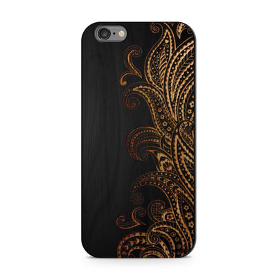 Black Bamboo - Dona Floresca - Milkyway Cases -  iPhone - Samsung - Clear Cut Silicone Phone Case Cover