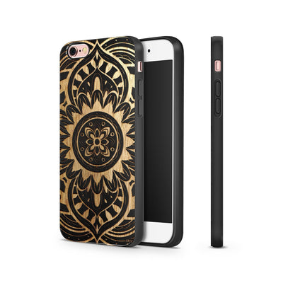 Black Bamboo - Anshi Mandala - Milkyway Cases -  iPhone - Samsung - Clear Cut Silicone Phone Case Cover