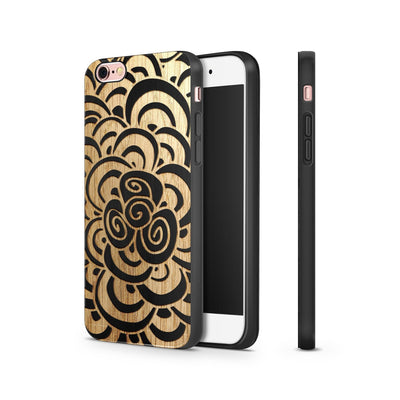 Black Bamboo - 3D Mandala - Milkyway Cases -  iPhone - Samsung - Clear Cut Silicone Phone Case Cover