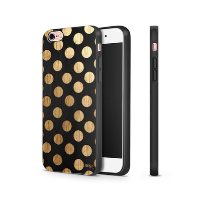 Black Bamboo - Polka Dot - Milkyway Cases -  iPhone - Samsung - Clear Cut Silicone Phone Case Cover