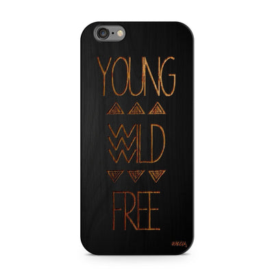 Black Bamboo - Young Wild Free - Milkyway Cases -  iPhone - Samsung - Clear Cut Silicone Phone Case Cover