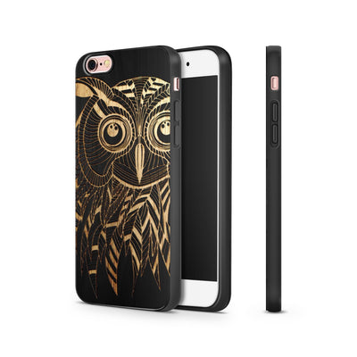 Black Bamboo - Kwago Owl - Milkyway Cases -  iPhone - Samsung - Clear Cut Silicone Phone Case Cover