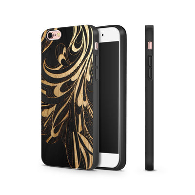 Black Bamboo - La Fleur Peacock - Milkyway Cases -  iPhone - Samsung - Clear Cut Silicone Phone Case Cover