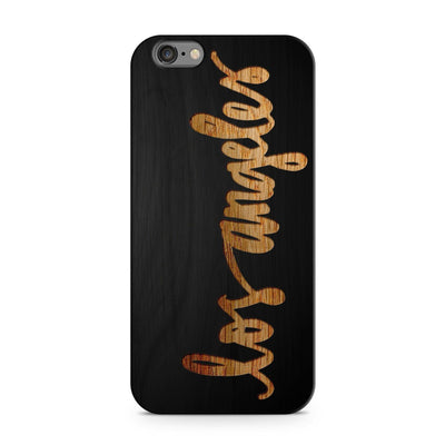 Black Bamboo - Los Angeles Script - Milkyway Cases -  iPhone - Samsung - Clear Cut Silicone Phone Case Cover