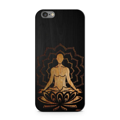 Wood  - Meditating Buddha Milkyway iPhone Samsung Clear Cute Silicone 8 Plus 7 X Cover