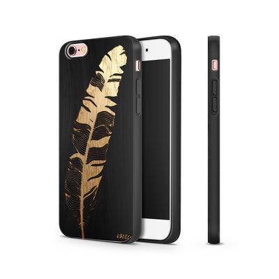 Black Bamboo - Feather - Milkyway Cases -  iPhone - Samsung - Clear Cut Silicone Phone Case Cover